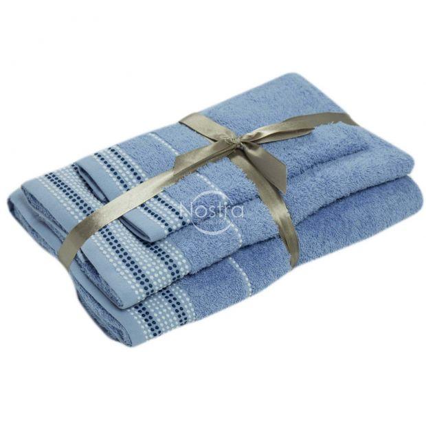 Kolmeosaline rätikute komplekt T0044 T0044-SOFT BLUE