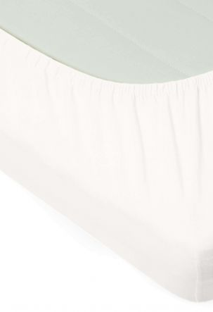 PREMIUM trikotaažist voodilina JERSEY LUX-200 JERSEY-OPT.WHITE