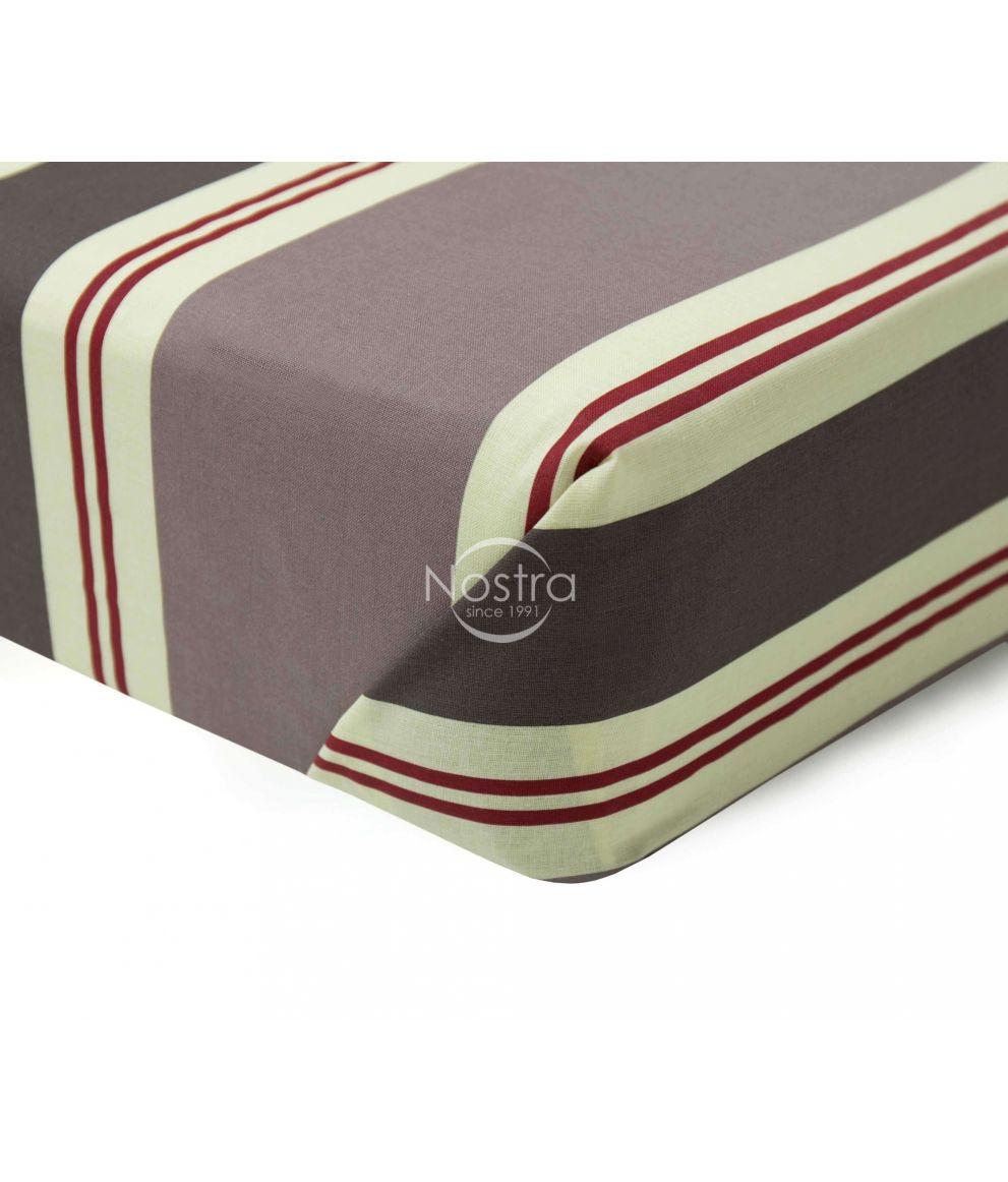 Mustriga linane voodilina 196-BED