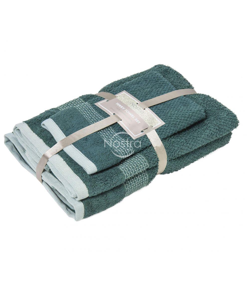 3 osaline rätikukomplekt T0106 T0106-PINE GREEN