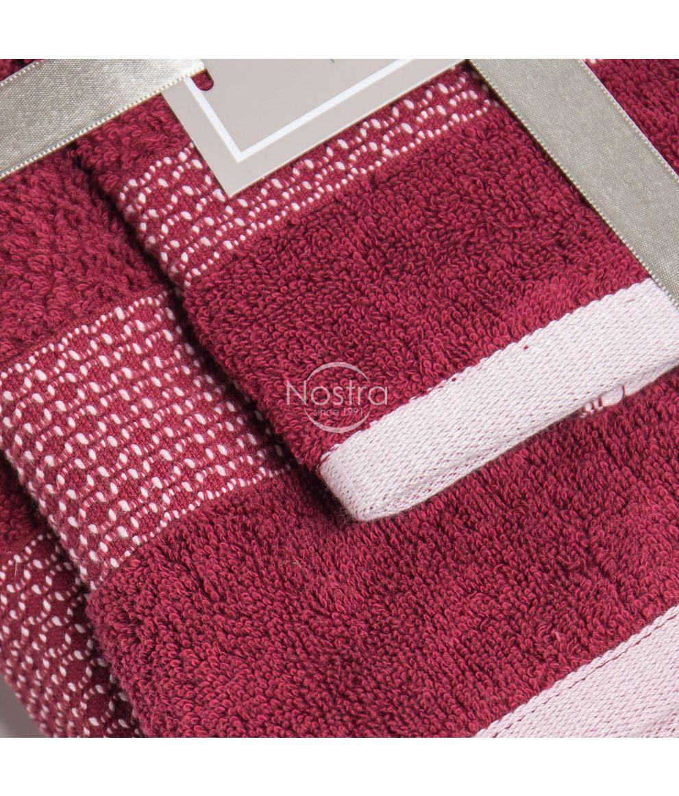 3 osaline rätikukomplekt T0106 T0106-BURGUNDY