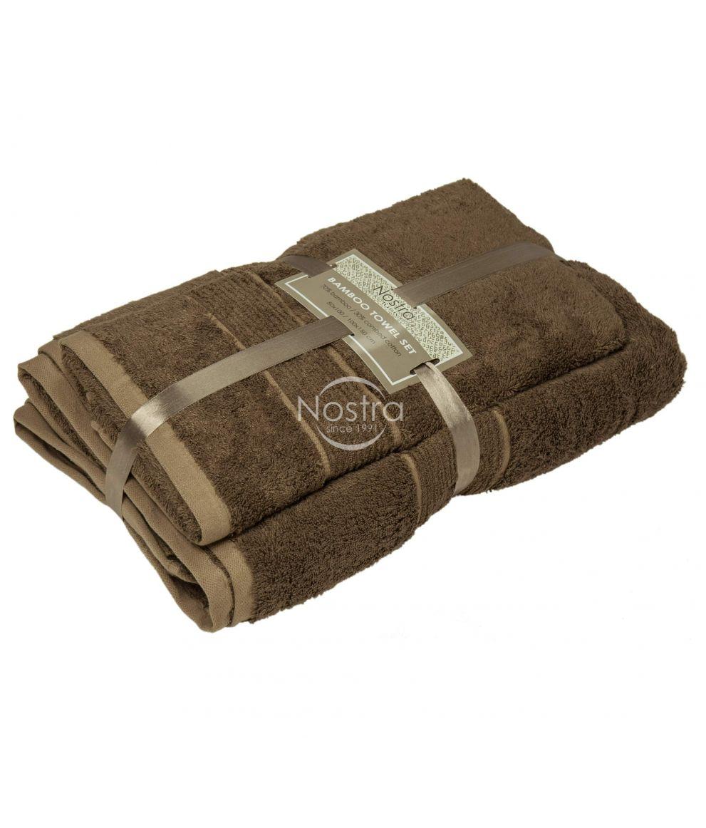 Bambusest rätikute komplekt BAMBOO-600 T0105-GINGER BROWN