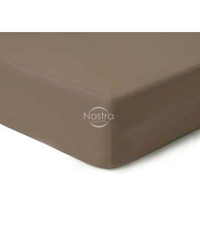 Атласная простыня на резинке 00-0211-CACAO