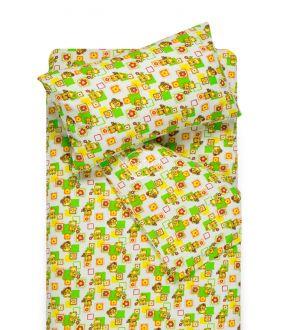 Детское фланелевое постельное белье SMALL BEARS 10-0384-GREEN
