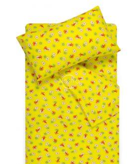 Flanellist voodipesu lastele LITTLE BEES 10-0130-YELLOW