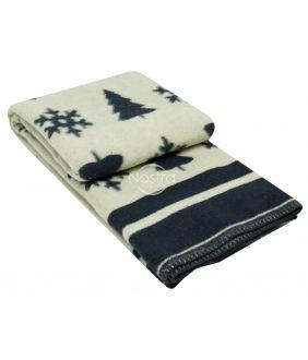 Шерстяное одеяло из мэриноса 80-3189-BLUE