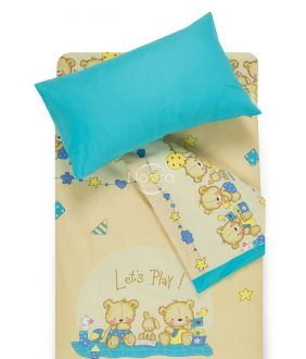 Voodipesu lastele BEARS 10-0215/00-0358-BEIGE/BLUE ATOL