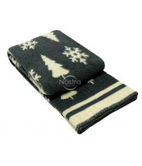 Шерстяное одеяло из мэриноса 80-3189-DARK GREY