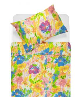 Lõuendriidest voodipesukomplekt DELPHINE 40-0064-ORANGE