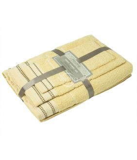 3 pieces towel set T0044 T0044-L.YELLOW