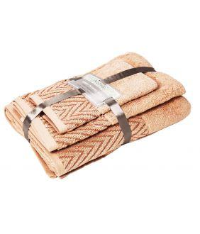 3 osaline rätikukomplekt T0108 T0108-PEACH NECTAR