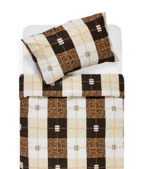 Lõuendriidest voodipesukomplekt DYNA 40-1078-BROWN
