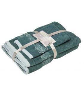 3 pieces towel set T0106 T0106-PINE GREEN
