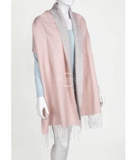 Шарф MAROCCO-325 DOUBLE FACE-L.GREY PINK