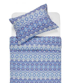 Flannel bedding set BRIDGET 40-1165-BLUE