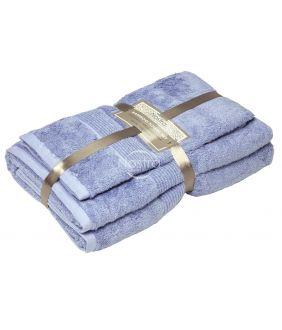 Bambusest rätikute komplekt BAMBOO-600 T0105-SOFT BLUE