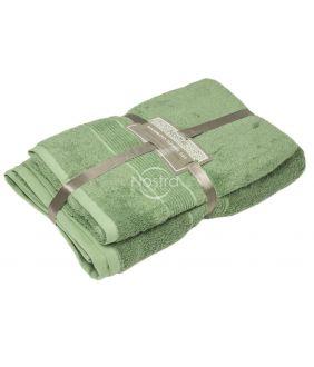 Bambusest rätikute komplekt BAMBOO-600 T0105-MINERAL GREEN