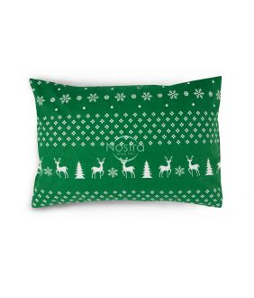 Flannel pillow cases with zipper 10-0544-GREEN