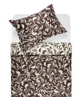 Sateen bedding set AFIFA 40-1176-PAPYRUS/CACAO