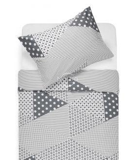 Cotton bedding set DORCEY 30-0571-GREY