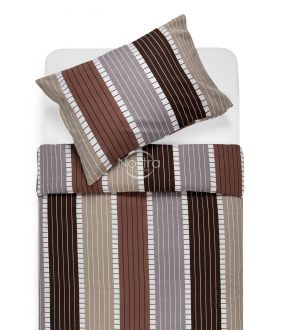 Lõuendriidest voodipesukomplekt DORA 30-0572-BROWN