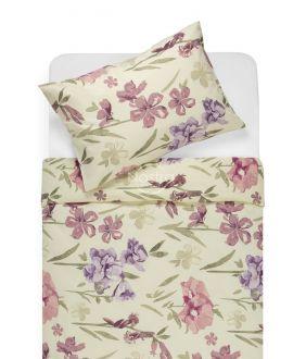 Cotton bedding set DOLORES 20-1458-PLUM