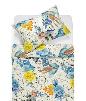 Cotton bedding set DIVA 20-1493-YELLOW/BLUE
