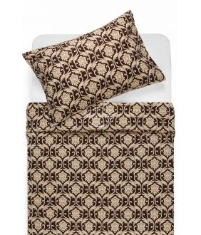 Lõuendriidest voodipesukomplekt DIONA 30-0570-BROWN