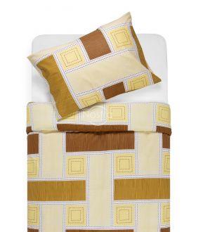 Lõuendriidest voodipesukomplekt DIAMANDA 30-0575-BROWN