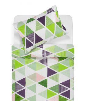 Lõuendriidest voodipesukomplekt DEVRI 30-0615-GREEN