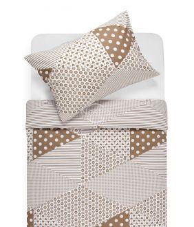 Lõuendriidest voodipesukomplekt DORCEY 30-0571-CACAO