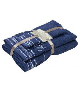 Kolmeosaline rätikute komplekt T0044 T0044-NIGHT BLUE