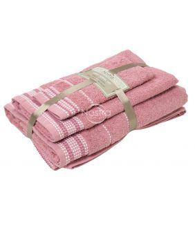 3 pieces towel set T0044 T0044-OLD ROSA