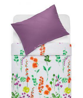 Cotton bedding set DIOR 20-1538/00-0374-ORANGE/GRAPE