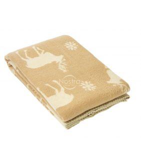 Шерстяное одеяло из мэриноса 80-3056-BEIGE