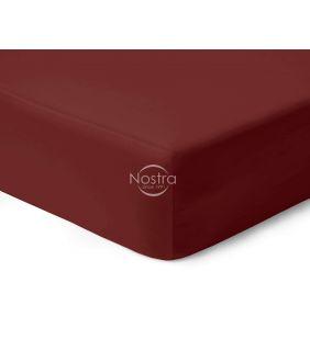 Satiinist voodilina kummiga 00-0412-WINE RED
