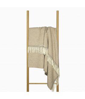 Woolen plaid MERINO-300 80-3261-LIGHT BROWN BEIGE