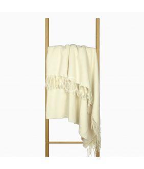 Woolen plaid MERINO-300 DOUBLE FACE-WHITE