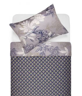 Sateen bedding set AUDREY 20-1612/30-0637-BLUE