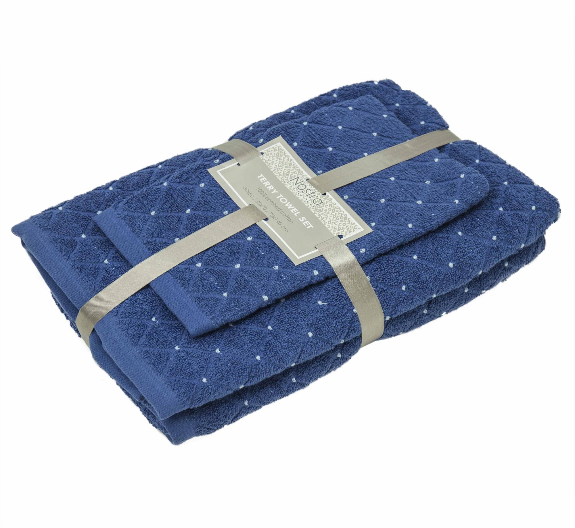 3-х предм. набор полотенец T0107 T0107-CLASSIC BLUE